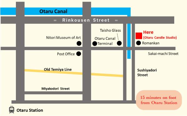 店舗周辺地図(英語版)